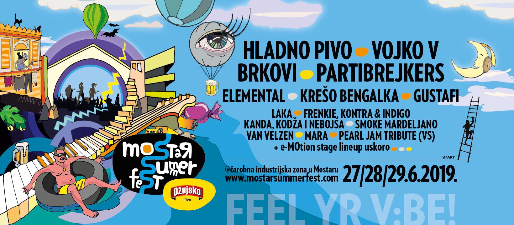 Najavljen najjači Mostar Summer Fest do sada!