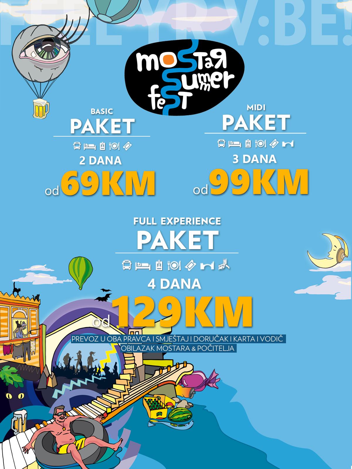 Organizirani prijevoz iz čitave BiH na Mostar Summer Fest!