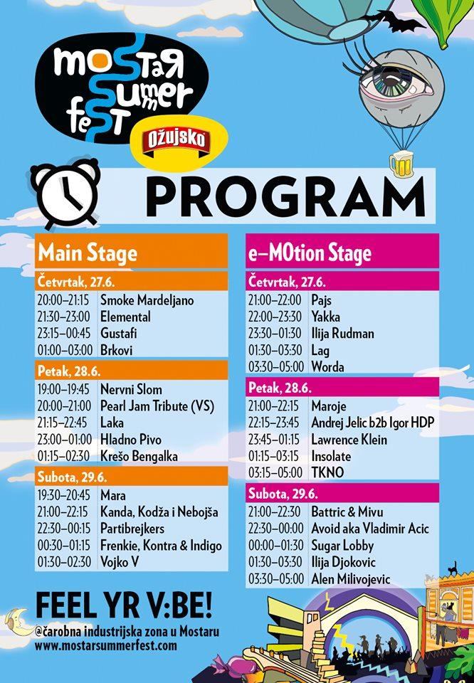 Sutra počinje najjače izdanje Mostar Summer Festa!