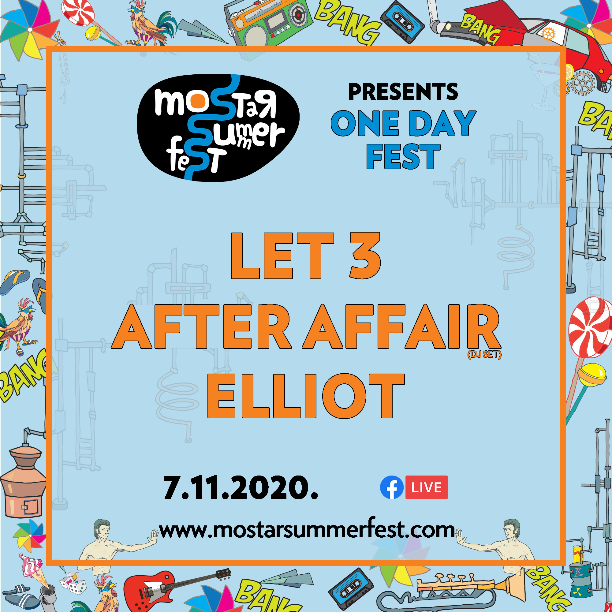 Mostar Summer Fest najavljuje One Day Fest Edition: Nastupaju Let 3, After Affair i Elliot